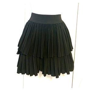 Zara pleated mini skirt w/ elastic waistband black